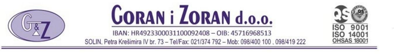 Servisi za kanalizaciju - Goran & Zoran d.o.o.
